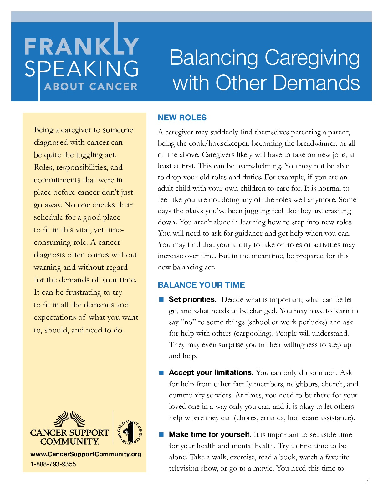 Balancing Caregiving with Other Demands