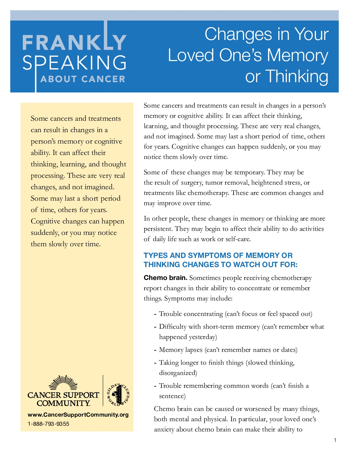 Changes in Your Loved Ones Memory Thinking