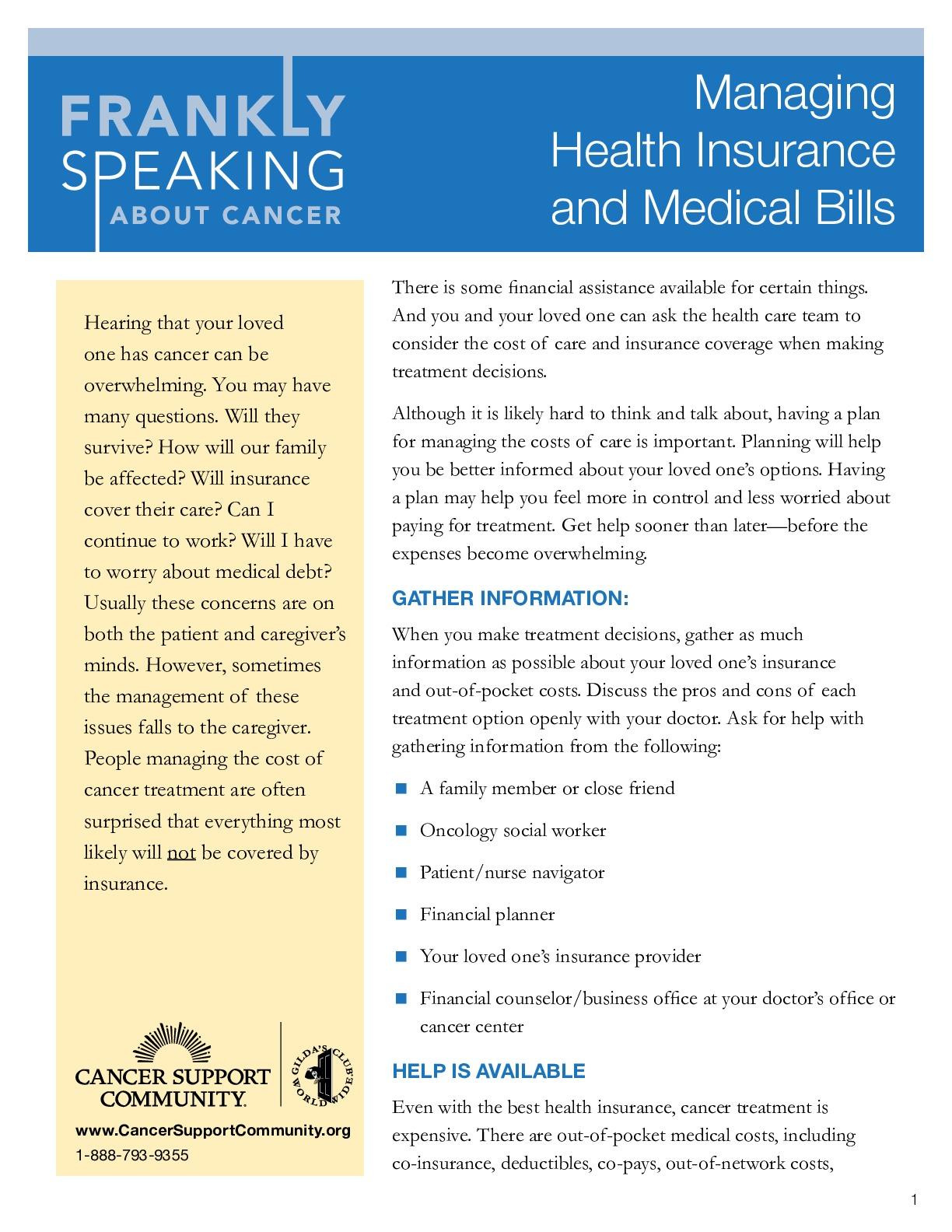 Managing Health Insurance