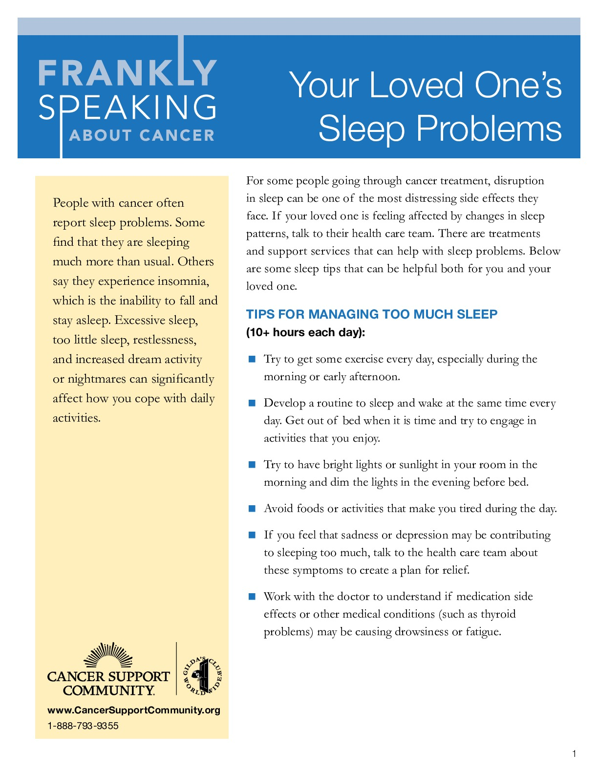 Your Loved One's Sleep Problems