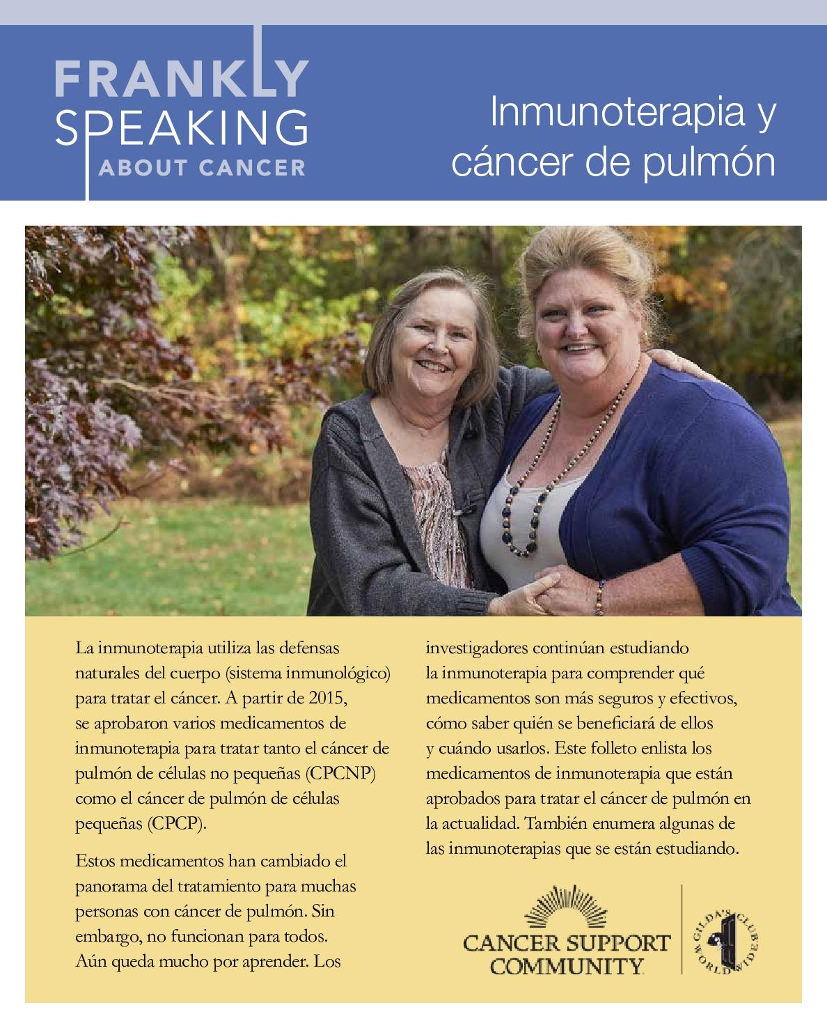 Inmunoterapia y cáncer de pulmón
