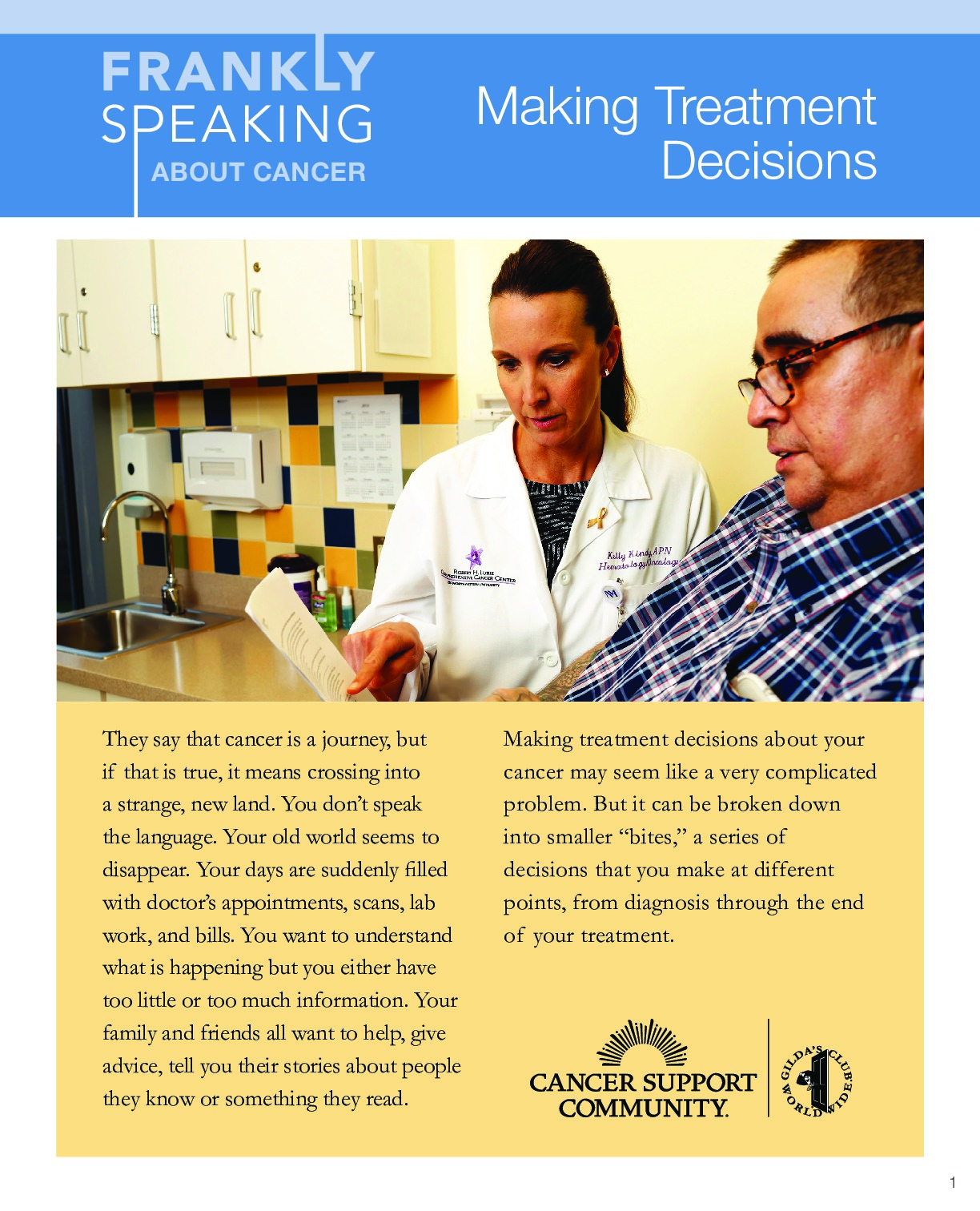 Making Treatment Decisions Booklet