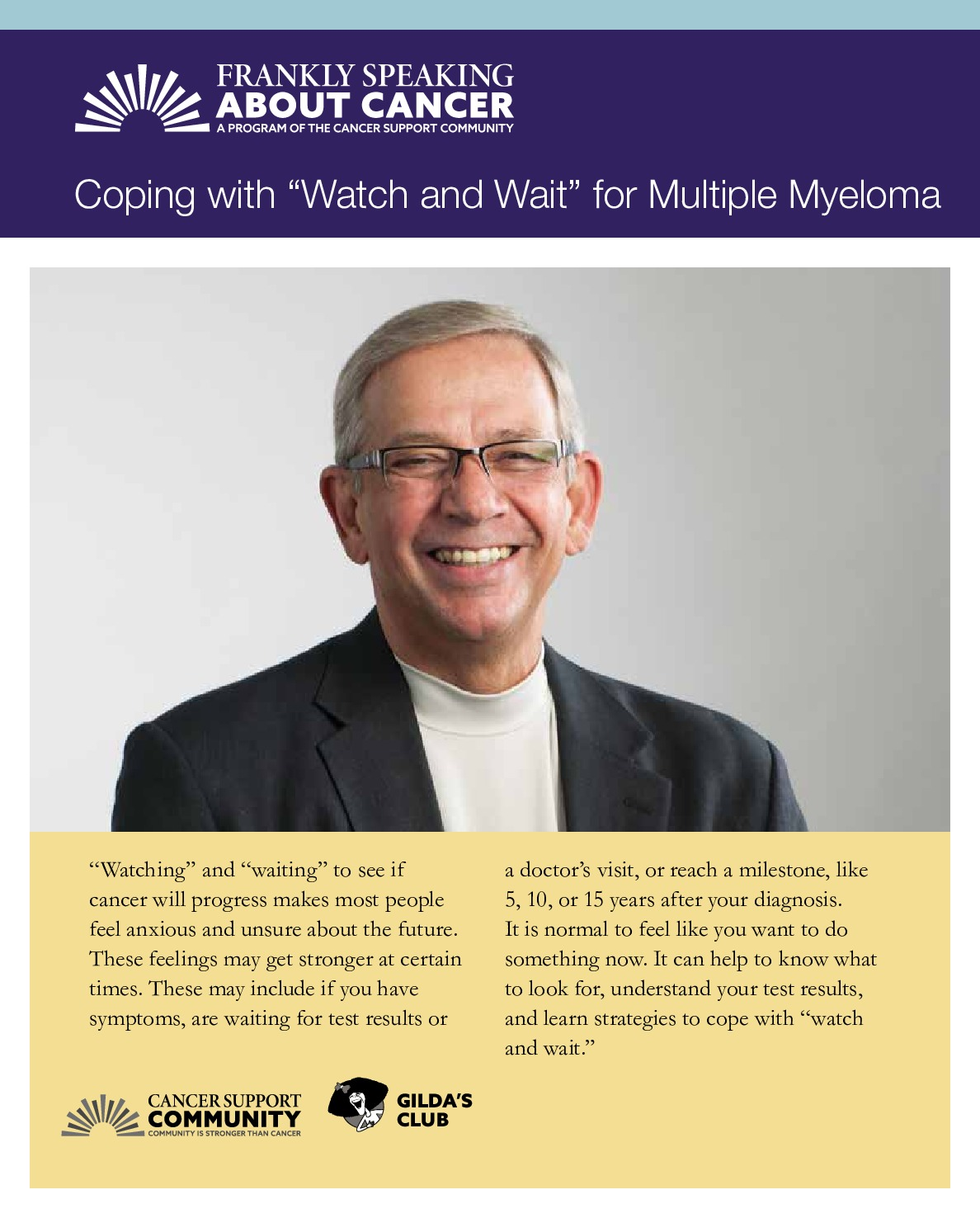 """Coping with """"Watch and Wait"""" for Multiple Myeloma"""