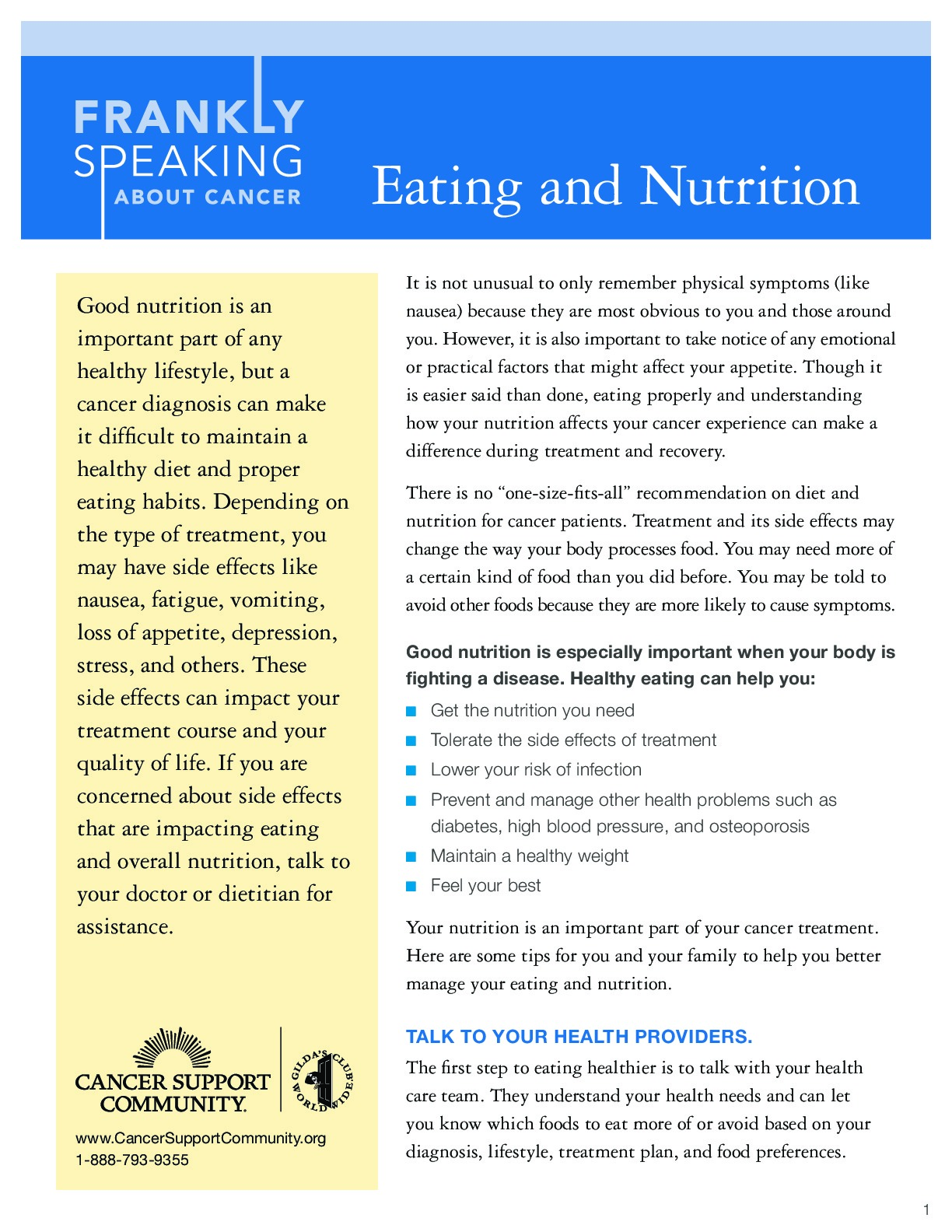 Eating and Nutrition