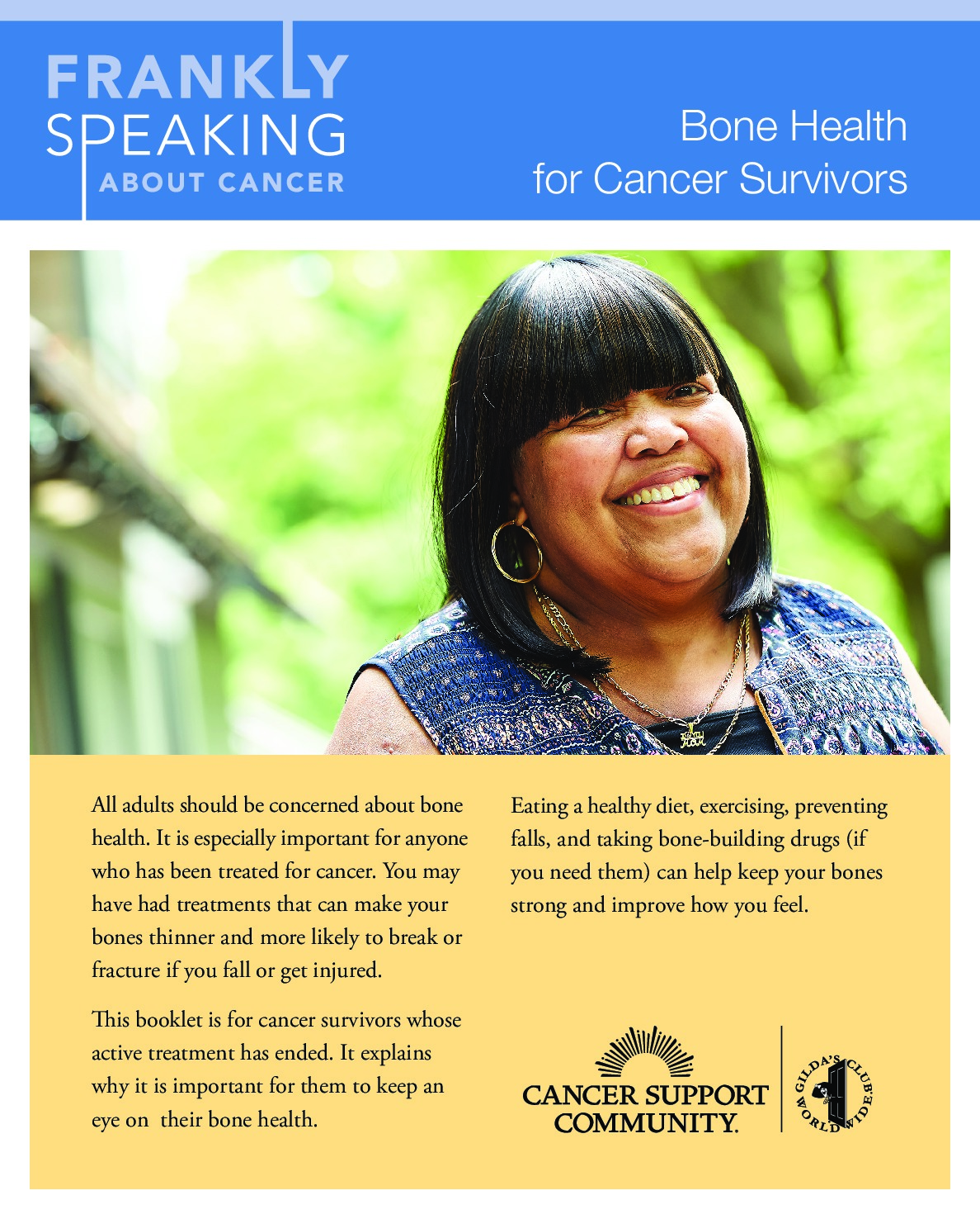 Frankly Speaking About Cancer: Bone Health for Cancer Survivors