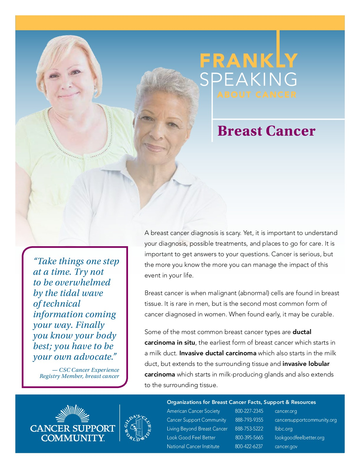 Frankly Speaking About Cancer: Breast Cancer