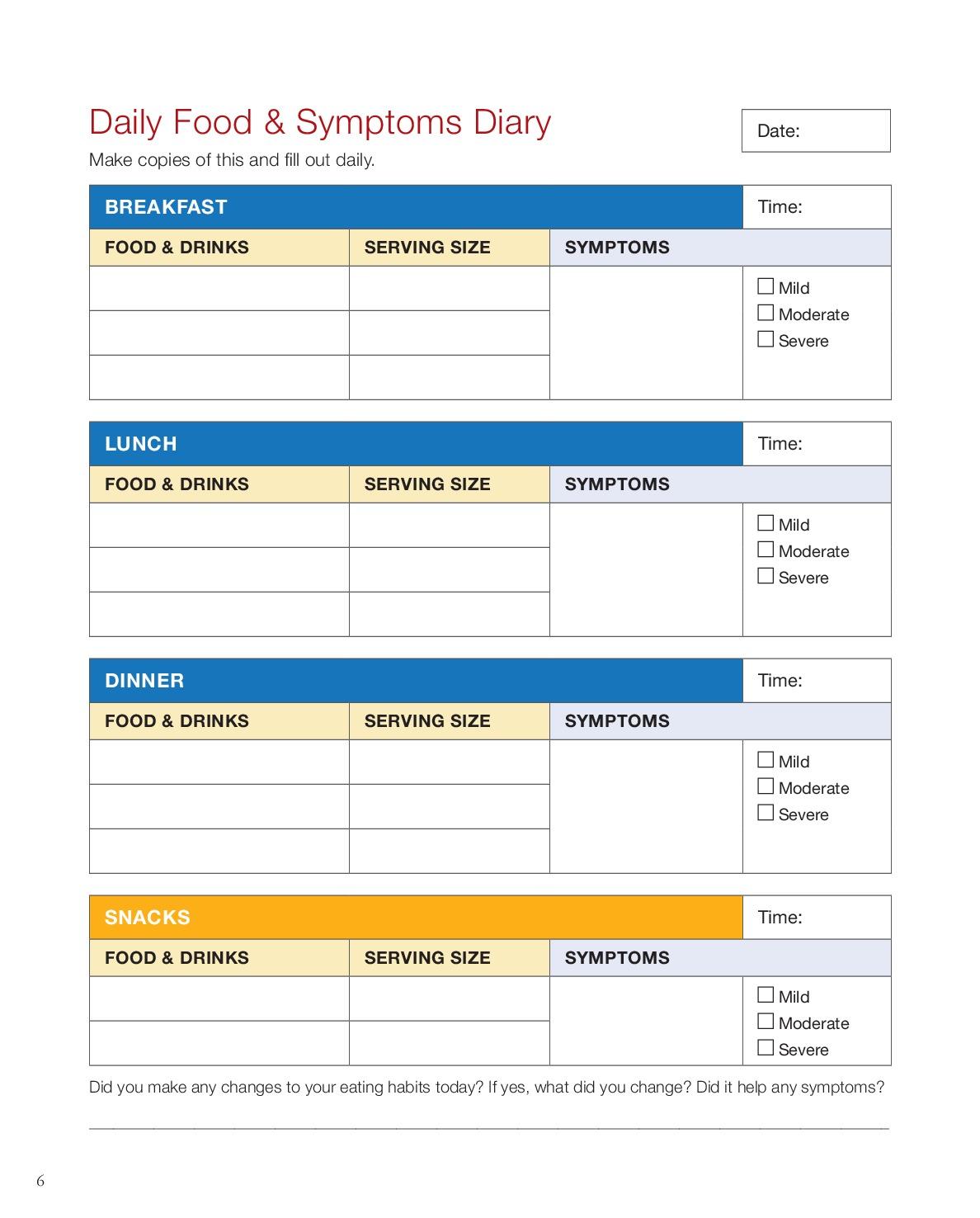 FSAC Daily Food & Symptoms Diary