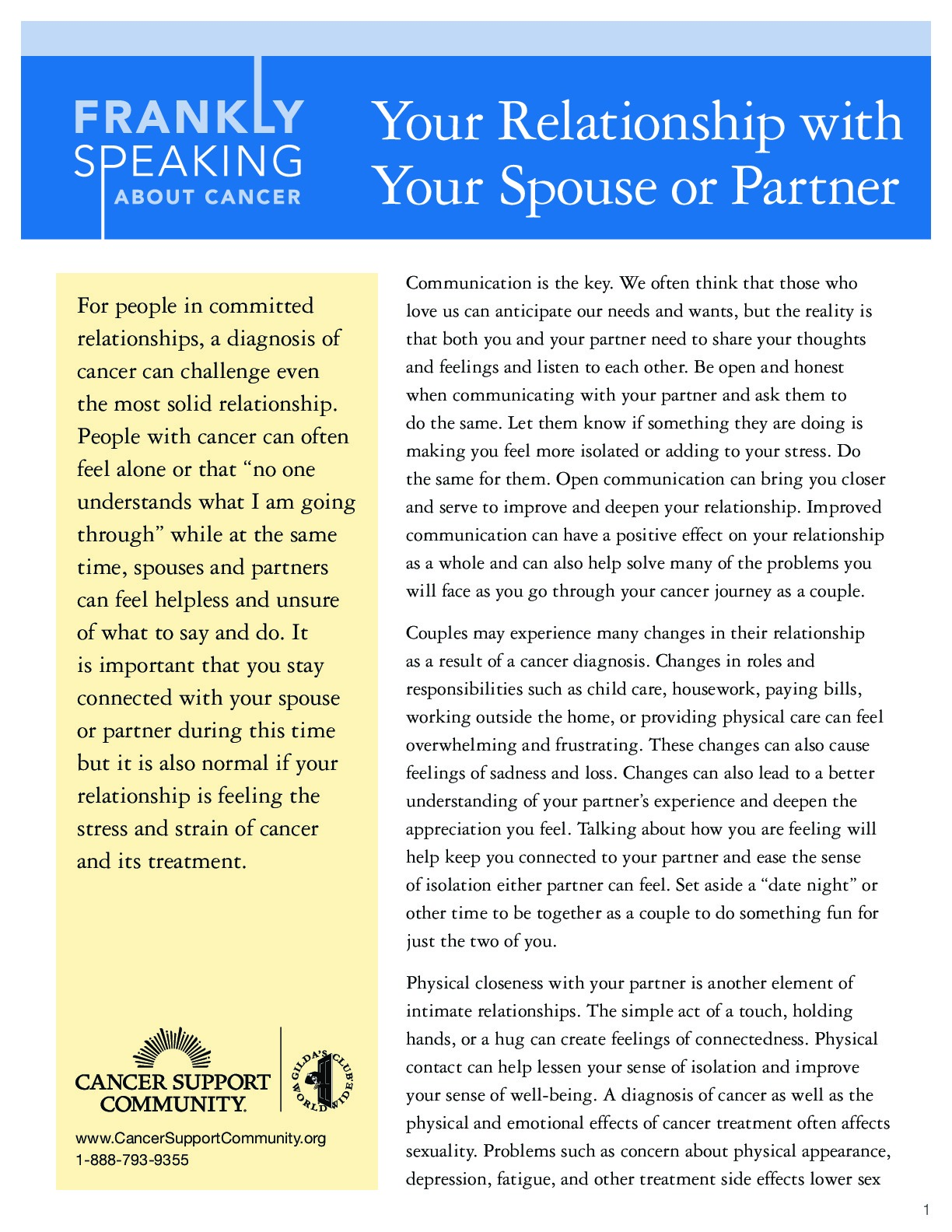 Your Relationship with Your Spouse or Partner