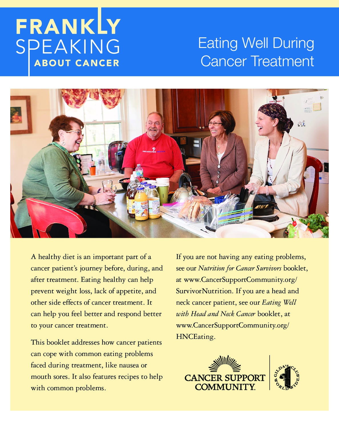 Frankly Speaking About Cancer: Eating Well During Cancer Treatment
