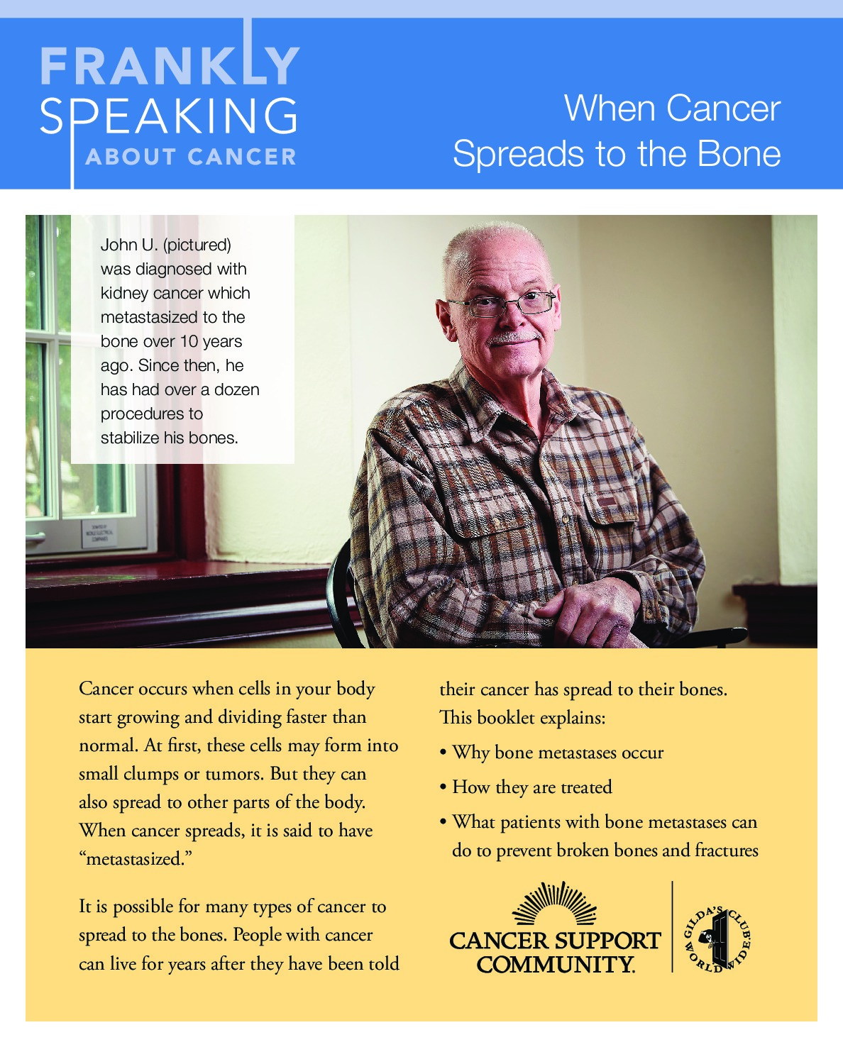 Frankly Speaking About Cancer: When Cancer Spreads to the Bone