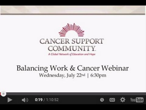 Balancing Work & Cancer
