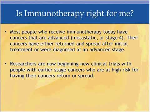 What Is New with Immunotherapy?