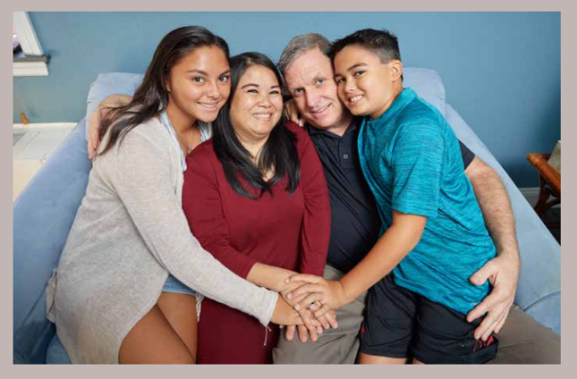 Joe and family, lung cancer patient