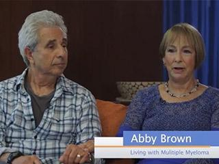 Abby Brown, living with Multiple Myeloma, talking about how to handle stress
