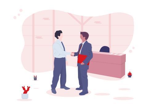 illustration 2 men shaking hands